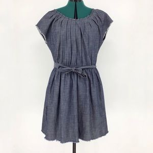 Lauren Conrad NWT Pleat Neck Chambray Dress, XL